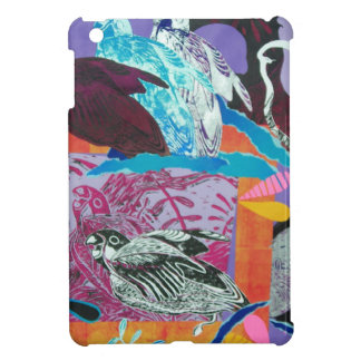 Parrot Print Collage Pattern iPad Mini Cover