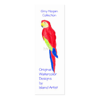 Parrot Profile Card Double-Sided Mini Business Cards (Pack Of 20)