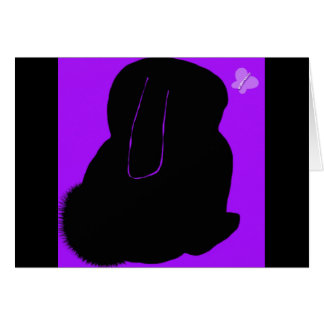 Parrot purple rabbit blank greeting card