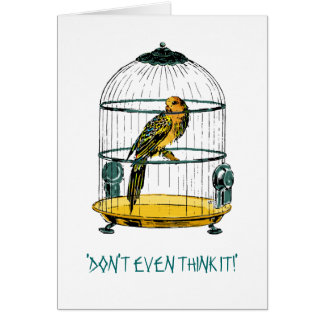 Parrot Quote Greeting Card