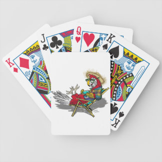 Parrot Relaxing in Beach Chair Bicycle Playing Cards