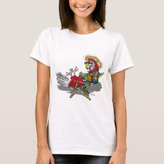 Parrot Relaxing in Beach Chair T-Shirt