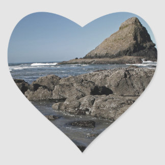 Parrot Rock and Tidepools, Oregon Heart Sticker
