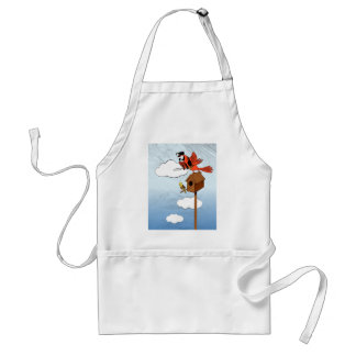 Parrot see, parrot do adult apron