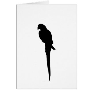 Parrot silhouette card