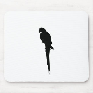Parrot silhouette mouse pad