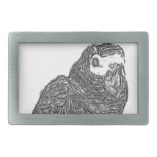 Parrot Sketch Rectangular Belt Buckle