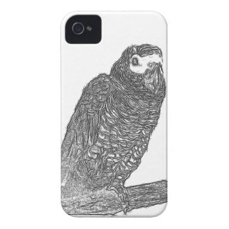 Parrot Sketch iPhone 4 Cover