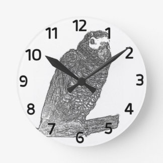 Parrot Sketch Clock
