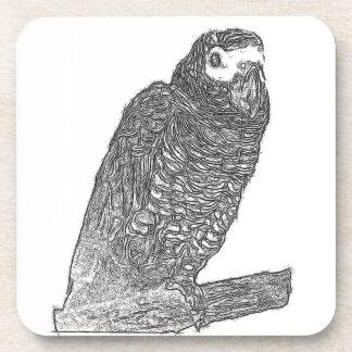 Parrot Sketch Beverage Coasters
