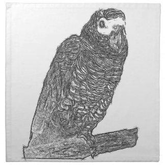 Parrot Sketch Napkins