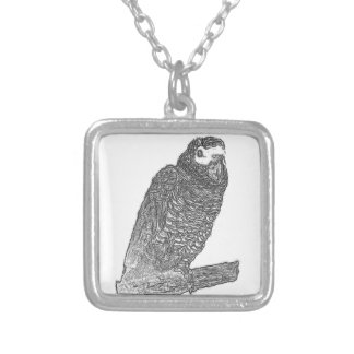 Parrot Sketch Personalized Necklace