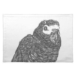 Parrot Sketch Place Mat