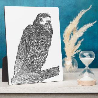 Parrot Sketch Photo Plaque