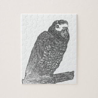 Parrot Sketch Jigsaw Puzzle