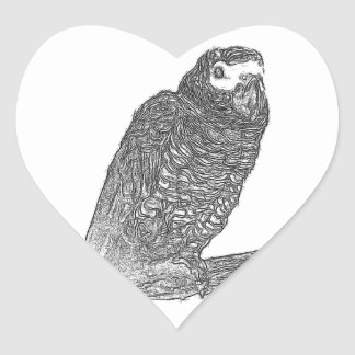 Parrot Sketch Stickers