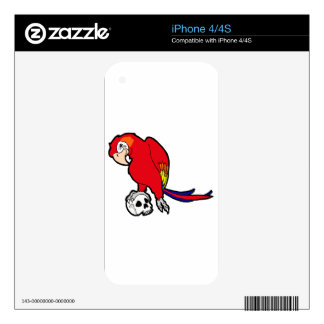 Parrot & Skull Skins For The iPhone 4S