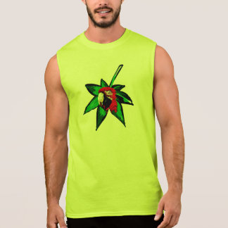 PARROT SLEEVELESS SHIRT