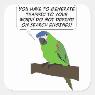 Parrot Speech Square Sticker