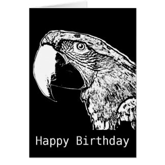 Parrot Squawk Happy Birthday Card