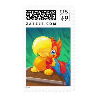 Parrot Stamp