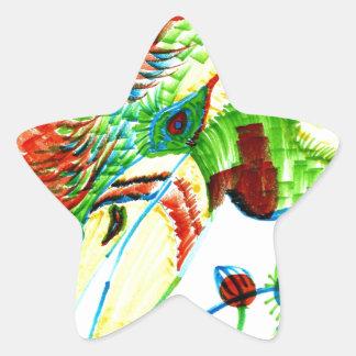 Parrot Star Sticker