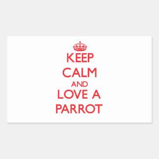 Parrot Rectangular Sticker