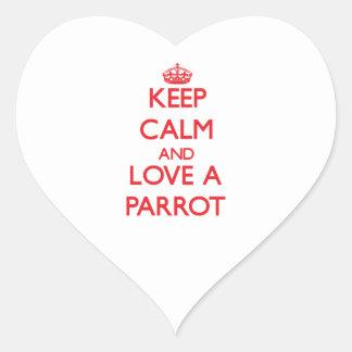 Parrot Heart Sticker