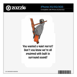 Parrot Surround Sound Decal For The iPhone 2G
