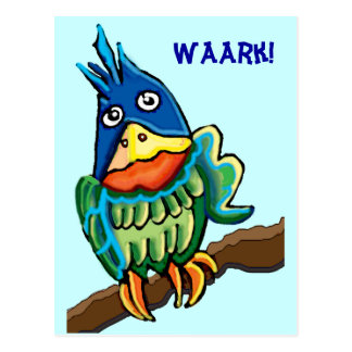 Parrot talk postcard