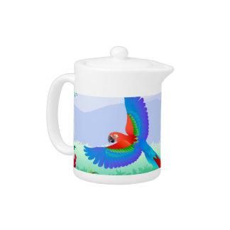 parrot teapot