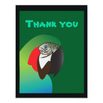 parrot thank yous card