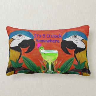 Parrot Tiki Bar Throw pillow