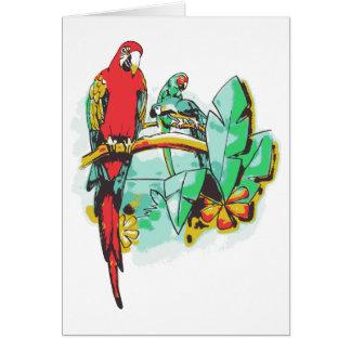 Parrot Trio Card