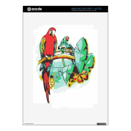 Parrot Trio iPad 3 Decal