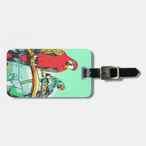 Parrot Trio Tag For Bags