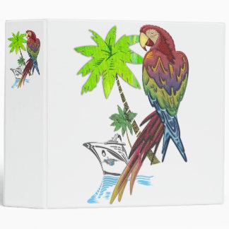 Parrot Tropical Cruise Vinyl Binder