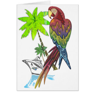 Parrot Tropical Cruise Card