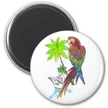 Parrot Tropical Cruise Magnet