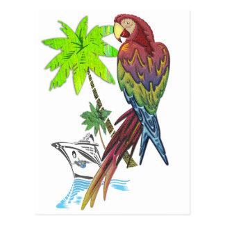 Parrot Tropical Cruise Postcard
