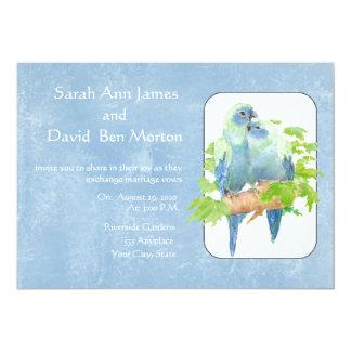 "Parrot Tropical Nature Wedding Invite 5"" X 7"" Invitation Card"