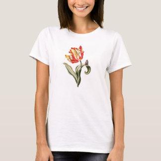 Parrot Tulip Flower Butterfly Watercolor T-Shirt