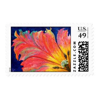 Parrot Tulip Flower Fine Art Postage Stamp