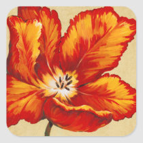 Parrot Tulip I Square Sticker