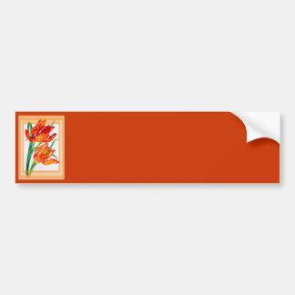 Parrot Tulips Bumper Sticker