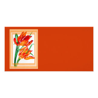 Parrot Tulips Card