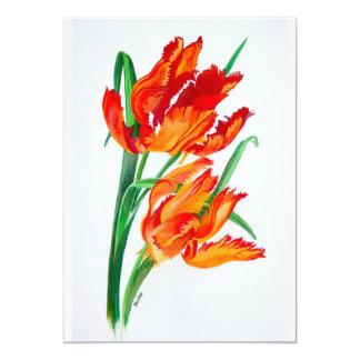 "Parrot Tulips 5"" X 7"" Invitation Card"