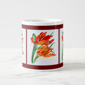 Parrot Tulips Large Coffee Mug