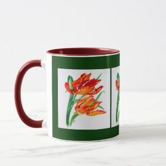 Parrot Tulips Mug