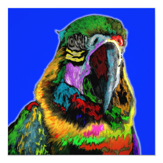 Parrot (watercolor) card